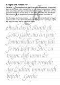 Kalligraphie Übungsblätter, Bastarda, Beispiel 3