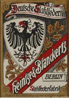 Antike Schachtel mit linksgeschrägten Kalligraphie Schreibfedern, Heintze & Blanckertz, No. 675, 1mm
