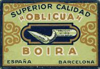 Antike Schreibfederschachtel, Oblicua Boira, No. 1016, Extra Rapida