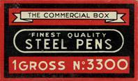 Antike Schreibfederschachtel, Unbekannter Hersteller, No. 3300, The commercial box