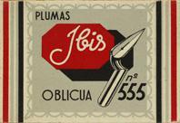 Plumas Ibis, No. 555, Oblicna