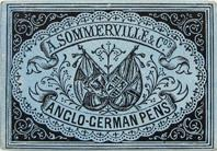 Antike Schreibfederschachtel, A. Sommerville & Co, No. 6 F, Anglo-German Pen