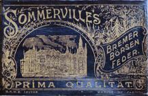 Antike Schreibfederschachtel, A. Sommerville & Co, Bremer Börsen Feder EF