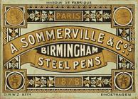 Antike Schreibfederschachtel, A. Sommerville & Co, No. 951-9