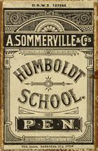 Antike Schreibfederschachtel, A. Sommerville & Co, No. 327 EF, Humboldt School Pen