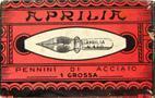 Schreibfeder-Schachtel Aprilia, No. 120, Corona