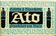 Antike Schreibfederschachtel, Heintze & Blanckertz, Ato-Federn, Frankfurt / Main