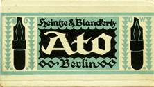 Antike Schreibfederschachtel, Heintze & Blanckertz, Ato-Federn, Berlin