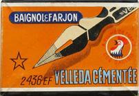 Antike Schreibfederschachtel, Baignol & Farjon, No. 2436 EF, Velleda Cémentée