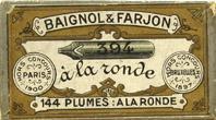 Antike Schreibfederschachtel, Baignol & Farjon, No. 394, A la Ronde