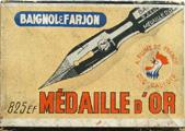Antike Schreibfederschachtel, Baignol & Farjon, No. 825 EF, Medaille D'or