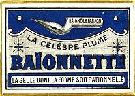 Antike Schreibfedern-Schachtel, Baignol & Farjon, No. 2800 EF, Baionnette