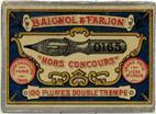 Antike Schreibfederschachtel, Baignol & Farjon, No. 0165 F, Hors Concours