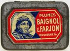 Antike Schreibfederschachtel, Baignol & Farjon, No. 1128 F, Pointe Convexe, Typ 3