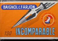 Antike Schreibfederschachtel, Baignol & Farjon, No. 190, Plume Incomparable