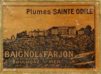 Antike Schreibfederschachtel, Baignol & Farjon, No. 800-7, Sainte Odile