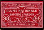 Antike Schreibfederschachtel, Baignol & Farjon, No 98, Plume Nationale