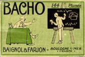 Antike Schreibfederschachtel, Baignol & Farjon, F, Bacho