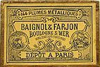Antike Schreibfederschachtel, Baignol & Farjon, St. George F