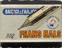 Antike Schachtel mit Zeichenfedern, Baignol & Farjon, No. 902, Frans Hals