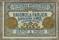 Antike Spitzfeder, Baignol & Farjon, Bordereau, M