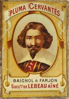 Antike Schreibfederschachtel, Baignol & Farjon, Plume Cervantes, M