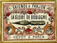 Antike Schreibfederschachtel, Baignol & Farjon, No. 3298 / 2298, La Gloire de Boulogne