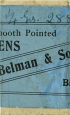 Antike Schreibfederschachtel, Belman & Son Ltd., No. 288, Stock Exchange Pen