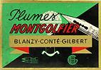 Antike Schreibfederschachtel, Blanzy-Conte-Gilbert, No. 172 F, Plume Montgolfier