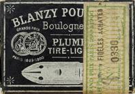 Antike Schreibfeder-Schachtel, Gilbert & Blanzy-Poure, No. 330, Fideles Achates