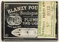 Antike Schreibfeder-Schachtel, Blanzy-Poure & Cie, No. 333-4, Fideles Achates