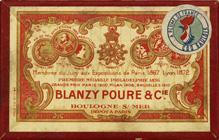 Antike Schreibfederschachtel, Blanzy-Poure & Cie, No. 0552, Plume Departementale, Typ 2