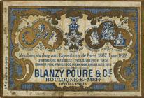 Antike Schachtel mit Kalligraphie Spitzfedern, Blanzy-Poure & Cie, No. 1204, Plume Valkyrie