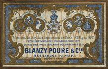 Antike Schreibfederschachtel, Blanzy Poure & Cie, No. 151, Plume Monitor