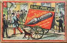 Antike Schreibfederschachtel, Gilbert & Blanzy-Poure, No. 185 bis, Plume Reclame