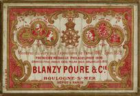 Antike Schreibfederschachtel, Blanzy Poure & Cie, No. 1898 EF, Penna Cavallotti