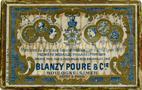 Antike Schreibfederschachtel, Blanzy Poure & Cie, No. 241, Rubicon