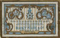Schachtel mit Kalligraphie Spitzfedern, Blanzy Poure & Cie, No. 552 F, Plume Departementale