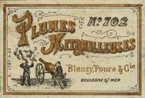 Antike Schreibfeder-Schachtel, Blanzy-Poure & Cie, No. 702, Plume Mitrailleuse