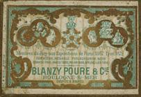 Antike Schachtel mit Kalligraphie Spitzfedern, Blanzy-Poure & Cie, No. 736 F, Plume Monopole