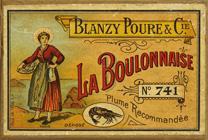 Antike Schreibfederschachtel, Blanzy Poure & Cie, No. 741 EF, La Boulonnaise