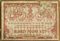 Antike Schreibfederschachtel, Blanzy Poure & Cie, No. 80, Plume A L'X