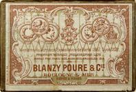 Antike Schreibfederschachtel, Blanzy Poure & Cie, No. 81, Plume Caducée (Merkurstab)
