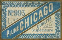 Antike Schreibfederschachtel, Blanzy Poure & Cie, No. 993, Plume Chicago