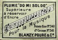 Antike Schachtel mit Kalligraphie Spitzfedern, Blanzy-Poure & Cie, No. 340, Do Mi Sol Do