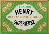 Schachtel mit Kalligraphie Spitzfedern, Blanzy-Conte-Gilbert, Henry No. 605