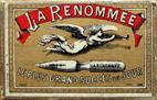 Antike Schreibfedernschachtel, Blanzy Poure et Cie, La Renomée
