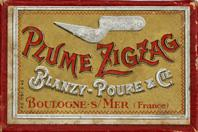 Antike Schreibfedern-Schachtel, Blanzy Poure & Ci, No. 1278 EF, Plume ZIG ZAG
