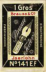 Brause & Co, Iserlohn, Schreibfeder-Schachtel No. 141 EF