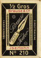 Antike Schreibfederschachtel, Brause & Co, No. 210